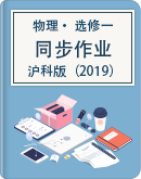 2021-2022学年沪科版(2019)选择性必修第一册同步作业(Word版,含解析)