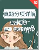 五年(2017-2021)高考英语真题分项详解(原卷+解析版)