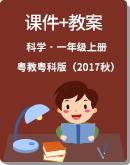 粤教粤科版(2017秋)一年级上册科学同步课件+教案