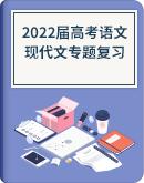 2022届高考语文 现代文专题复习训练(含答案)