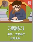 北师大版小学数学五年级下册习题练习