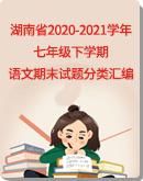 【湖南省】2020-2021学年下学期七年级语文期末试题分类汇编(Word版,含答案)