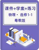 粤教版高中物理选修1-1同步课件+学案+分层练习