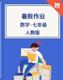 人教版數學七年級 暑假作業(原卷版+解析版)