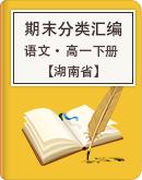 【湖南省】2020-2021學年下學期高一語文期末試卷分類匯編(解析版)