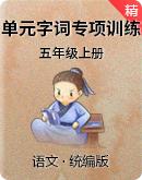 【单元专项】统编版语文五年级上册 单元字词专项训练(含答案)