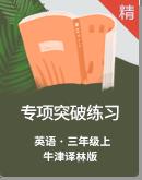 【單元同步】牛津譯林版三年級上冊英語專項突破練習題(word,含答案)