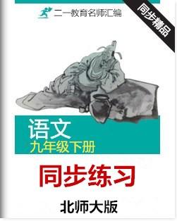 【2016特供】北师大版语文九年级下册同步练习