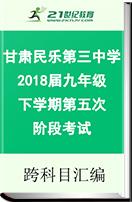 甘肃省民乐县第三中学2018届九年级下学期第五次阶段考试