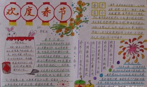 2016春节手抄报图片大全(最新)