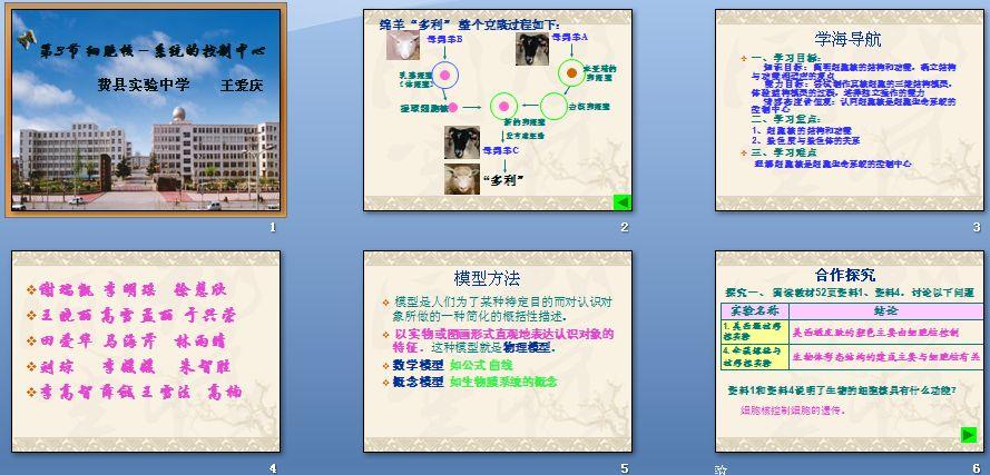 第3节细胞核──资源的v资源中心系统-文章|教母校写课件高中的图片