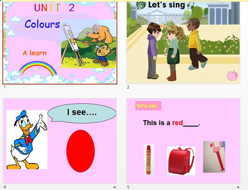 (人教PEP)三年级英语上册课件 Unit 2 Colours PartA Learn-山东省图片