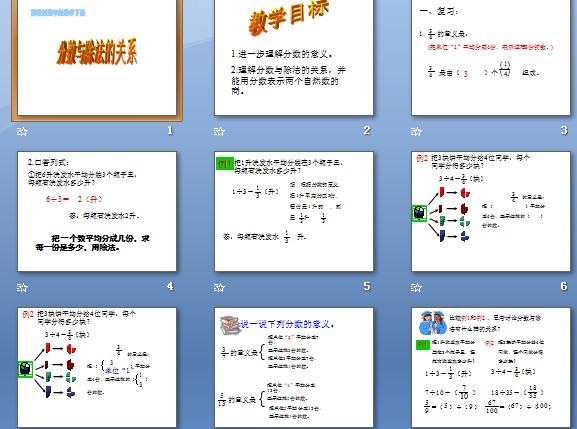 分数与除法的关系 21数学教育网 数学备课 学习资源下载