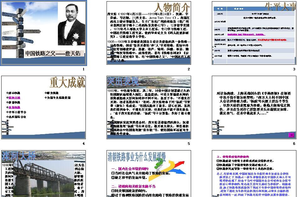 第2课中国课件之父詹天佑语文|铁路高中,人教学期高一上历史备课组v课件总结图片