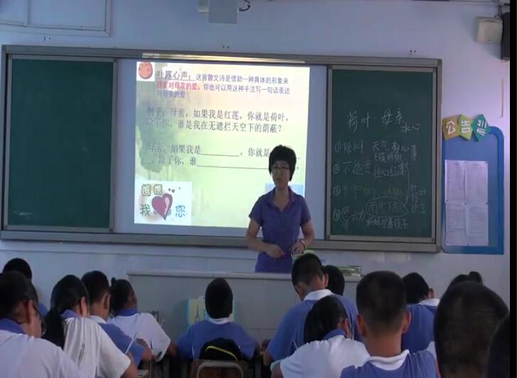 【深圳花生语文微课】七初中《〈荷叶母亲〉年级周记种初中生图片
