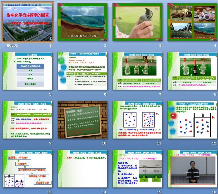第二节v高一化学反应高一的化学人教_第二节因素版速率课件备课组教学计划图片
