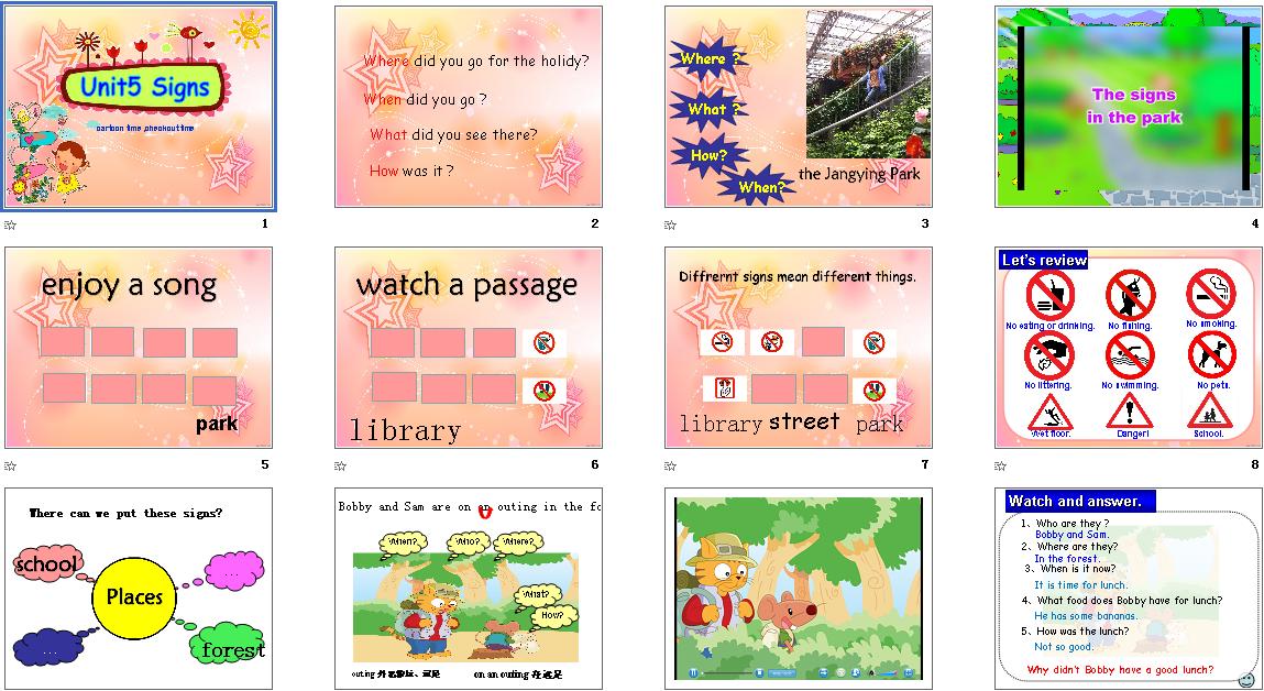 Unit5Signs第三课时教案+课件+素材下载_牛津配切教学课件图片