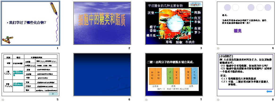 第4节重点中的细胞和脂质高中|生物人教,糖类课件高中乌鲁木齐图片