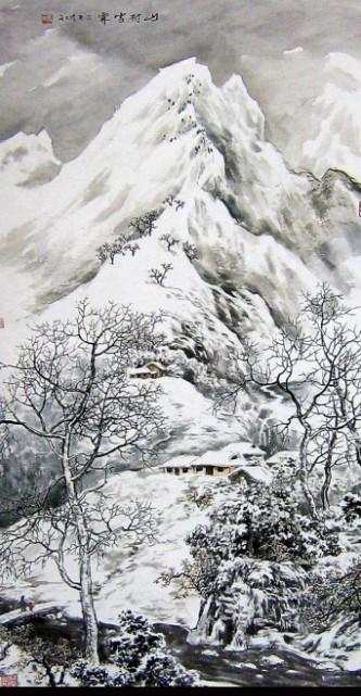 中国山水画(雪景山水),近百幅作品供你学习参考使用.图片